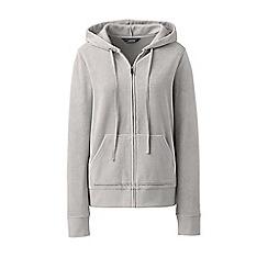 Lands' End - Grey soft leisure velour zip hoodie