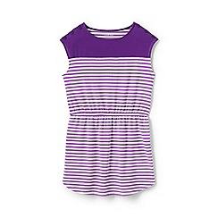 Lands' End - Purple toddler girls' colour block t-shirt dress