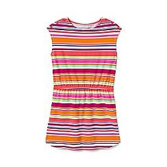 Lands' End - Girls' Multicoloured  t-shirt dress with boatneck