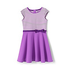 Lands' End - Girls' Purple  skater dress in ponte jersey