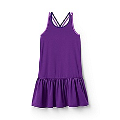 Lands' End - Purple girls' strappy sun dress
