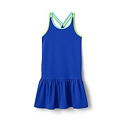Lands' End - Blue girls' strappy sun dress