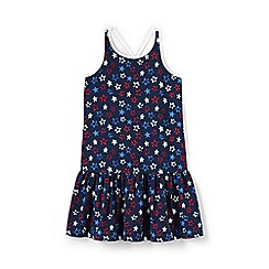 Lands' End - Blue girls' print strappy sun dress