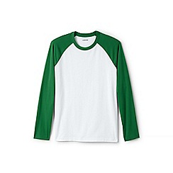 Lands' End - Green baseball t-shirt