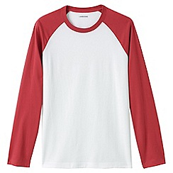 Lands' End - Red baseball t-shirt