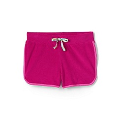 Lands' End - Pink girls' towelling beach shorts