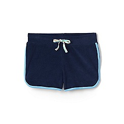 Lands' End - Blue girls' towelling beach shorts
