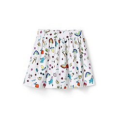 Lands' End - Multicoloured girls' patterned jersey skirt