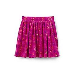 Lands' End - Pink girls' patterned jersey skort