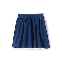 Lands' End - Girls' Blue  jersey skirt