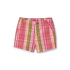 Lands' End - Pink girls' printed chino shorts