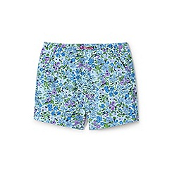 Lands' End - Blue girls' printed chino shorts
