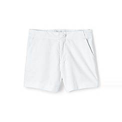 Lands' End - White girls' chino shorts