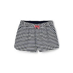 Lands' End - Blue girls' woven pattern pull-on shorts