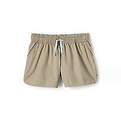 Lands' End - Green girls' shorts in cotton twill