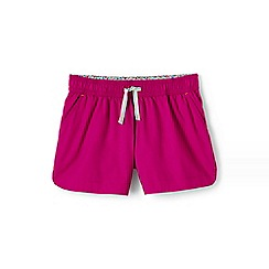 Lands' End - Pink girls' shorts in cotton twill