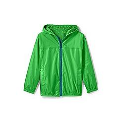 Lands' End - Green kids' packable waterproof jacket