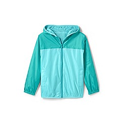 Lands' End - Blue kids' packable waterproof jacket