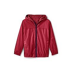 Lands' End - Red kids' packable waterproof jacket