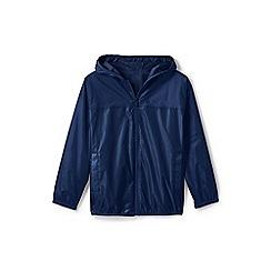 Lands' End - Blue kids' packable waterproof jacket