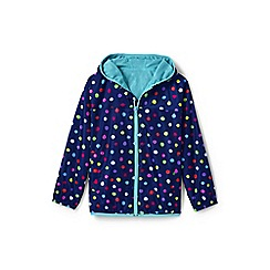 Lands' End - Blue kids' patterned packable waterproof jacket