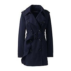 Lands' End - Blue short trench coat