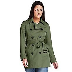 Lands' End - Green short trench coat