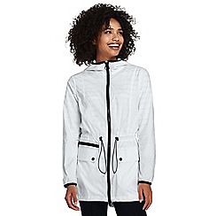 Lands' End - White packable anorak jacket