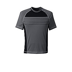 Lands' End - Grey rash t-shirt with chest stripe