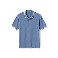 Lands' End - Blue tipped stretch pique polo shirt