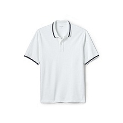 Lands' End - White tipped stretch pique polo shirt