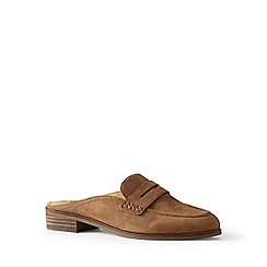 Lands' End - Brown backless loafers