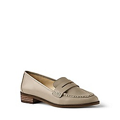 Lands' End - Metallic leather loafers