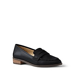 Lands' End - Blue leather loafers
