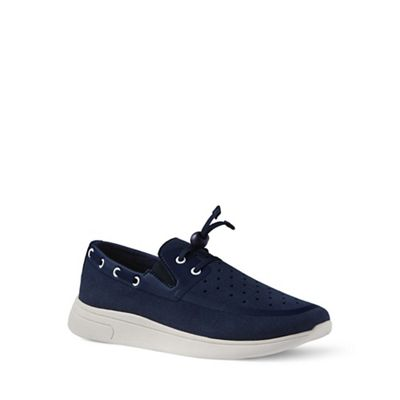 Lands' End - Blue slip-on boat shoes