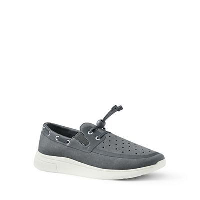 Lands' End - Grey slip-on boat shoes