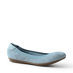 Lands' End - Blue Comfort Ballet Pumps