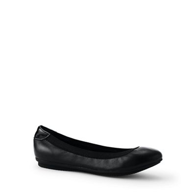 Lands' End - Black comfort ballet pumps