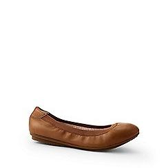 Lands' End - Brown comfort ballet pumps