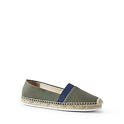 Lands' End - Green elastic flat espadrilles shoes