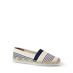Lands' End - White elastic flat espadrilles shoes