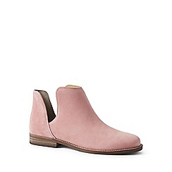 Lands' End - Pink cutaway suede ankle boots