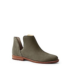 Lands' End - Green cutaway suede ankle boots