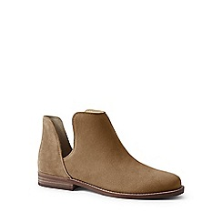 Lands' End - Brown cutaway suede ankle boots