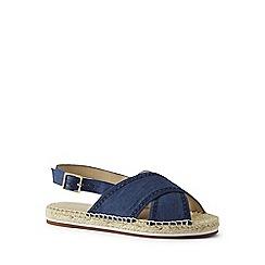 Lands' End - Blue espadrille sandals