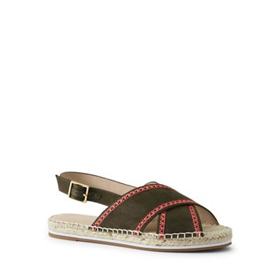 Lands' End - Green espadrille sandals