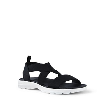Lands' End summer - Black alpargata lightweight summer End sandals 41dade