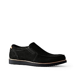 Lands' End - Black comfort casual suede loafers