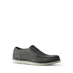 Lands' End - Grey comfort casual suede loafers