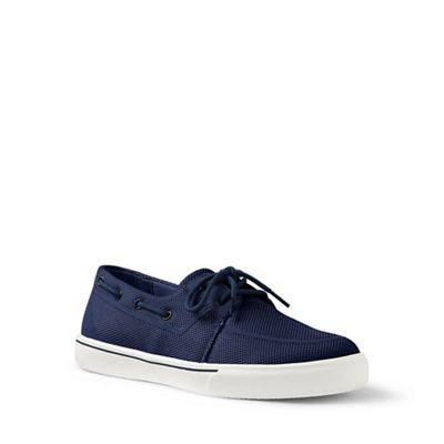 Lands' End - Navy mesh boat shoes